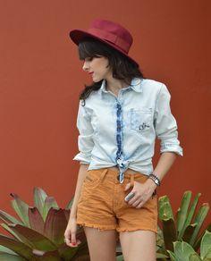 Look Camisa e shorts jeans Gdoky  - Blog Ela Inspira  - http://www.elainspira.com.br/look-one-too-far/