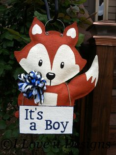 This adorable little fox will add charm and style to any door. Can also be used for a Nursery or Childs Room Measures 16 inches wide and 18 inchesu2026 & This adorable little fox will add charm and style to any door. Can ... pezcame.com