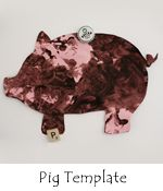 Muddy pig fingerpainting-free pig template:)