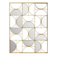 Gold Metal Mirror Wall Art 90 x 120 cm on Maisons du Monde. Take your pick from our furniture and accessories and be inspired! Gold Metal Mirror Wall Art 90 x 120 cm on Maisons du Monde. Take your pick from our furniture and accessories and be inspired! Art Deco Mirror, Mirror Wall Art, Metal Mirror, Partition Screen, Partition Design, Divider Screen, Art Deco Spiegel, Muebles Art Deco, Art Deco Pattern
