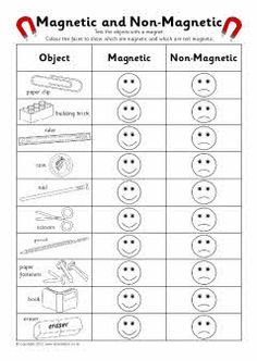 Magnetic and non-magnetic sorting record charts (SB7407) - SparkleBox Grade 3 Science, Primary Science, Kinder Science, Science Education, Elementary Science, Physical Science, Preschool Science, Science Lessons, Science Classroom