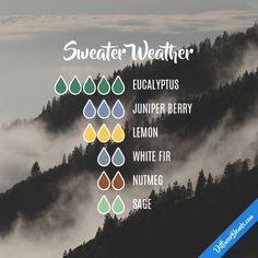 Sweater Weather - Essential Oil Diffuser Blend #Essentialoildiffusers