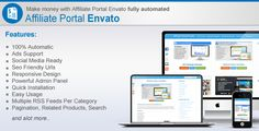 Affiliate Portal    http://codecanyon.net/item/affiliate-portal-/5369953?ref=damiamio              Affiliate Portal Envato  Affiliate Portal Envato lets you create your own money making scripts and themes portal. It automatically add new products daily. When visitor clicks on any product from your website it automatically add your referral username and make it your affliate link so you will get 30% on every users first deposit also you can add ad codes to earn from ads. Its search engine…