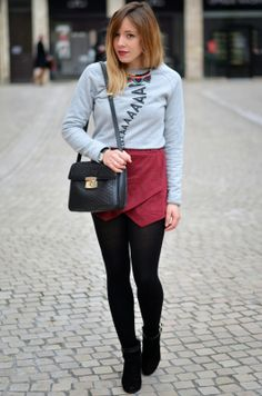 Grey sweater #fashion #fashionblogger