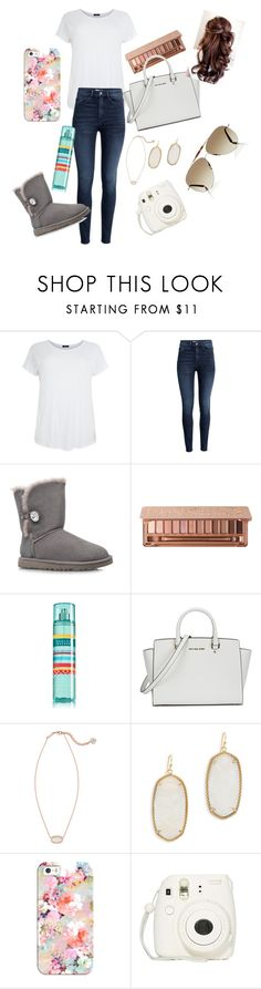 """Untitled #11"" by kyliegrace3 ❤ liked on Polyvore featuring beauty, H&M, UGG Australia, Urban Decay, Michael Kors, Kendra Scott, Casetify and Valentino"