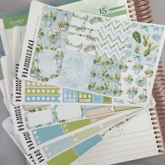 Succulents Planner Sticker Full Weekly Kit Fat by Plannerface