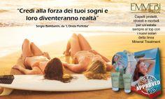 Emmebi Italia i nuovi Solari della linea Mineral Treatment... Proteggi i tuoi capelli da cloro, salsedine e raggi solari ! www.emmebiitalia.com