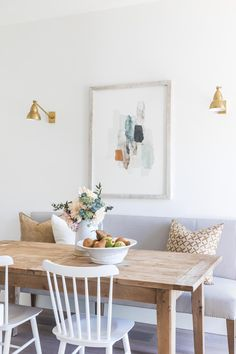 Dining Nook, Dining Room Design, Dining Table, Dining Room Art, Kitchen Design, Kitchen Decor, Elegant Home Decor, Elegant Homes, Dining Room Inspiration