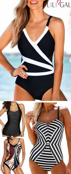 Cute and Classy One Piece Swimsuits for Summer Vacation Cute and Classy One Piece Swimsuits for Summer Vacation Sweet-ik Sweet-ik geometric print one piece swimsuits classy one piece swimsuits for moms cute one piece hellip Swimsuits For Teens, Plus Size Swimsuits, One Piece Swimsuit Slimming, Vintage Swimsuits, Swimwear Cover Ups, High Cut Bikini, Plus Size Bikini, Beachwear For Women, One Piece Swimwear