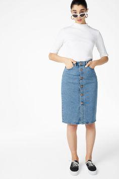 Long denim skirt - Still waters - Skirts - Monki SE
