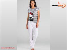 """WOMEN'S SECRET es una marca de ropa interior, ropa para dormir, accesorios y ropa de baño para la mujer de nuestros días. Cuenta con una extensa colección de pijamas como éste de pantalón largo y playera a rayas blancas y negras de """"HELLO KITTY"""". WOMEN'S SECRET MÉXICO es un negocio afiliado a MONEYBACK! www.moneyback.mx  #moneyback"""