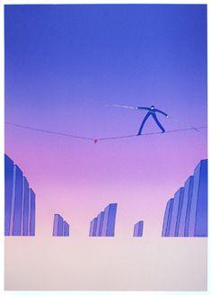 Screenprint poster by Folon Jean Michel