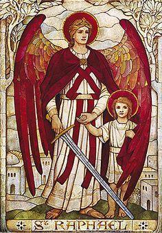 São Rafael, é o Arcanjo protetor do Brasil e que aos pés de Nossa Senhora Aparecida, assiste como primeiro Ministro.