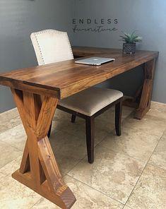 Office desk L Shaped Desk Pallet Furniture Office, Home Furniture, Furniture Design, L Shaped Office Desk, L Shaped Desk, L Shape Desk Diy, Rustic Desk, Wood Floating Shelves, Home Office Space
