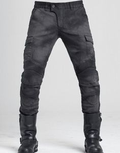 uglyBROS Motorpool Charcoal dark-grey premium motorcycle jeans & cargo pants, incl. protectors. Buy Motorpool Charcoal now.