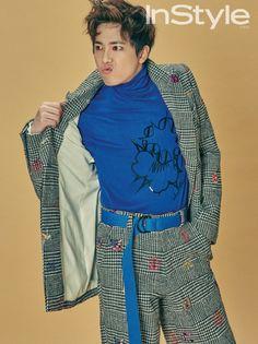 Lee Hong Ki modeling his Skull Hong brand for InStyle