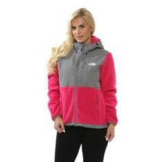 The North Face Women's 'Denali' Passion Pink/ Pache Grey Hoodie