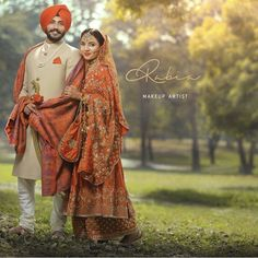 Tips For Planning The Perfect Wedding Day – Cool Bride Dress Sikh Wedding Dress, Punjabi Wedding Suit, Punjabi Wedding Couple, Couple Wedding Dress, Pakistani Wedding Outfits, Punjabi Bride, Bride Groom Dress, Groom Outfit, Bridal Outfits