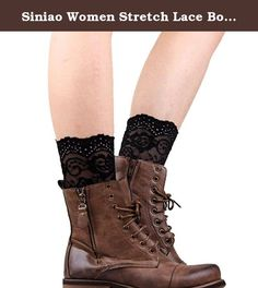 """Siniao Women Stretch Lace Boot Leg Cuffs Laced Boot Socks (30-33cm, Black). ☃: Description ☃: 100% brand new and high quality ☃: Style:Boot Cuffs ☃: Color:Hot Pink,Green,Black,White ☃: Material:Lace ☃: S:20-23cm/7.87-9.06"""" ☃: M:25-28cm/9.84-11.02"""" ☃: L:30-33cm/11.81-12.99"""" ☃: Our leg warmers are any boot's best friend. ☃: We love them with rain or ankle-length boots. ☃: You can Pair them with tights, leggings, skirts, skinny jeans for a sweet cozy look. ☃: Care: Hand wash cold and lay…"""