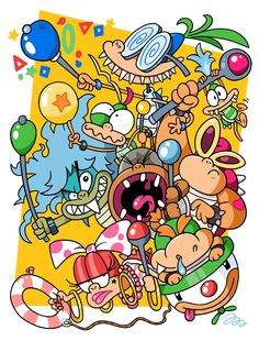 Here are the Koopa Kids, or Koopalings, who first appeared in Super Mario Bros. 3 by Nintendo, which came out in February of 1990. I loved these characters to bits as a kid, and drew them all the...