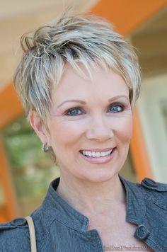 Short pixie hairstyles for older women Hairstyles Over 50, Cute Hairstyles For Short Hair, Popular Hairstyles, Latest Hairstyles, Short Hair Styles, Blonde Pixie, Cute Shorts, Fine Hair, Grey Hair