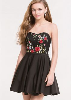 c164a81409c Buy Australia 2018 Sleeveless Satin Black Sweetheart Embroidery Short  Length Open Back A-line Prom   Cocktail Dresses 3737 at AU 175.04