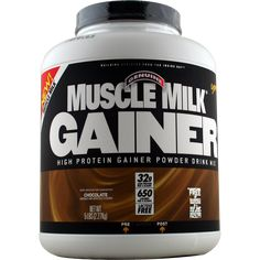 CytoSport Muscle Milk Gainer Chocolate 5 lbs | Regular Price: $56.99, Sale Price: $38.99 | OvernightSupplements.com | #onSale #supplements #specials #CytoSport #ProteinPowder  | Premium Multi Source Protein 32 Grams of Lean Protein Per 4 Scoops 650 Calories Per 4 Scoops 20 Essential Vitamins and Minerals Lactose and Gluten FreeFour Flavors Available Chocolate Cookies N Creme Strawberry Vanilla Creme Signature Muscle Milk Taste These statements have not been evaluated by the F
