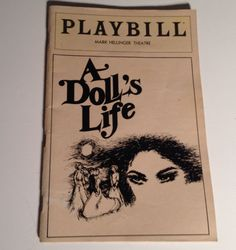 Playbill 1982 A Dolls Life Mark Hellinger Theatre NYC Broadway Theater