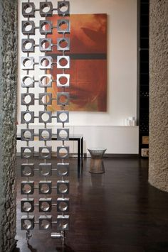 Aeon Lokum vertical deisgner radiator available in brushed stainless steel and polished finishes, Wall mounted or room divider radiator. Stainless Steel Radiators, Brushed Stainless Steel, Curtains And Radiators, Radiator Screen, Designer Radiator, Spoil Yourself, Towel Rail, Midcentury Modern, Your Space