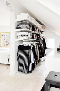 9 Tips For Beautiful Organization // black and white closet // closet storage ideas