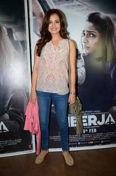 Bollywood Model Dia Mirza Latest Stills Photos