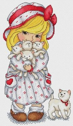 Buy 1 GET 1 FREE Cross stitch pattern PDF - Princess with a dog baby girl baby boy baby shower gift embroidery pattern baby announcement Cute Cross Stitch, Cross Stitch Alphabet, Counted Cross Stitch Patterns, Cross Stitch Designs, Cross Stitch Embroidery, Stitch Doll, Christmas Embroidery Patterns, Plastic Canvas Patterns, Christmas Cross