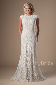 modest lace wedding