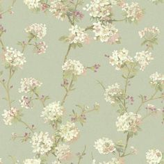 York Wallcoverings Anniversary Light Blue And White Cherry Blossom Wallpaper Grey Removable Wallpaper, Trendy Wallpaper, Vinyl Wallpaper, Black Wallpaper, Wallpaper Roll, Pattern Wallpaper, Paintable Wallpaper, Wallpaper Borders, Iphone Wallpaper