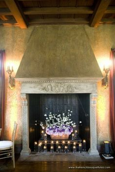 Great Way To Decorate An Unused Fireplace