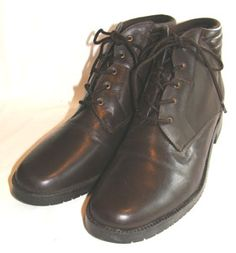 Brown Laura Scott Granny Ankle Boots $55