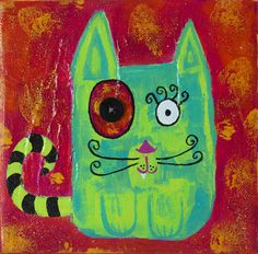 Red Green Cat by PolychromesPalace