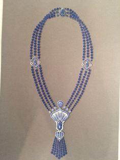 jewelry design and manufacturing Seed Bead Jewelry, High Jewelry, Jewelry Art, Beaded Jewelry, Vintage Jewelry, Gouache, Blue Diamond Jewelry, Jewellery Sketches, Jewelry Sketch