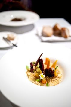 The title of this dish, Back to Your Roots immediately grabs my attention, the potato and aged cheese are simply bonuses on top. I'm immediately struck by the similarities I see between this dish and the Bespoke Miniature Garden which I tried at Becasse a month earlier, in this variation the young vegetables are firmly planted in a bed of mash all sprinkled with a generous layer of cheese. The young beets are easily my favourite, a sweet sensation but the bed of mash is surprisingly..