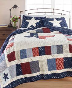 Martha Stewart Collection Texas Patchwork Cotton King Quilt