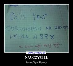 NAUCZYCIEL Very Funny Memes, Wtf Funny, Hilarious, Polish Memes, Funny Mems, Everything And Nothing, Keep Smiling, School Memes, Really Funny