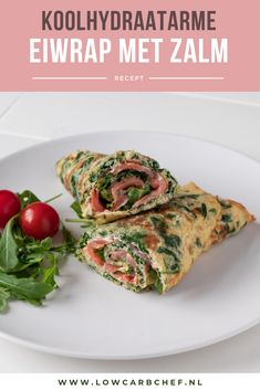 Egg wrap with salmon and spinach Healthy Low Carb Recipes, Pureed Food Recipes, Clean Eating Plans, Low Carb Lunch, Taco, Big Meals, Happy Foods, Good Food, Brunch