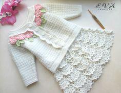 52 Ideas For Baby Girl Crochet Skirt Knitting For Kids, Baby Knitting Patterns, Crochet For Kids, Free Crochet, Knit Crochet, Crochet Patterns, Free Knitting, Easy Crochet, Crochet Baby Cardigan