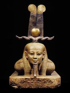 This sculpture of a mummified figure depicts the goal of every Egyptian—to become Osiris at the moment of rebirth.  Twenty-sixth Dynasty, 664–525 BCE Gneiss, with electrum and gold headdress The Egyptian Museum, Cairo