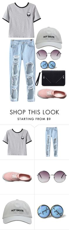 """""""after school programs"""" by jillianelizabeth13 ❤ liked on Polyvore featuring Chicnova Fashion, Vans and Monki"""
