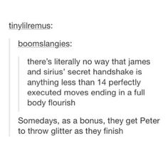 Sirius black and James Potter being fabulous