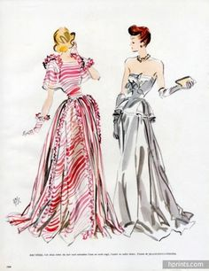 Bruyère 1947 Evening Gown, Fernando Bosc