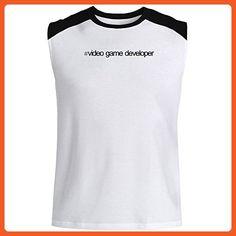 Idakoos - Hashtag Video Game Developer - Occupations - Raglan Sleeveless T-Shirt - Gamer shirts (*Partner-Link)