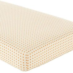 Bright Eyed, Bushy Tailed Crib Fitted Sheet (Orange Dot) in Crib Fitted Sheets | The Land of Nod This is the kind of crib sheet I have been looking for!!