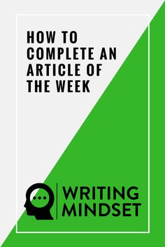 How to Complete an Article of the Week!